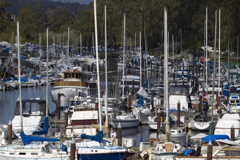 Des bateaux à Santa Cruz en Californie en 2011 (illustration)