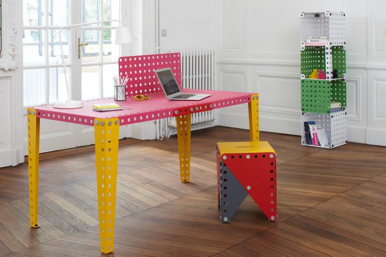 Avec les 9 couleurs disponibles, les créations Meccano Home sont entièrement personnalisables