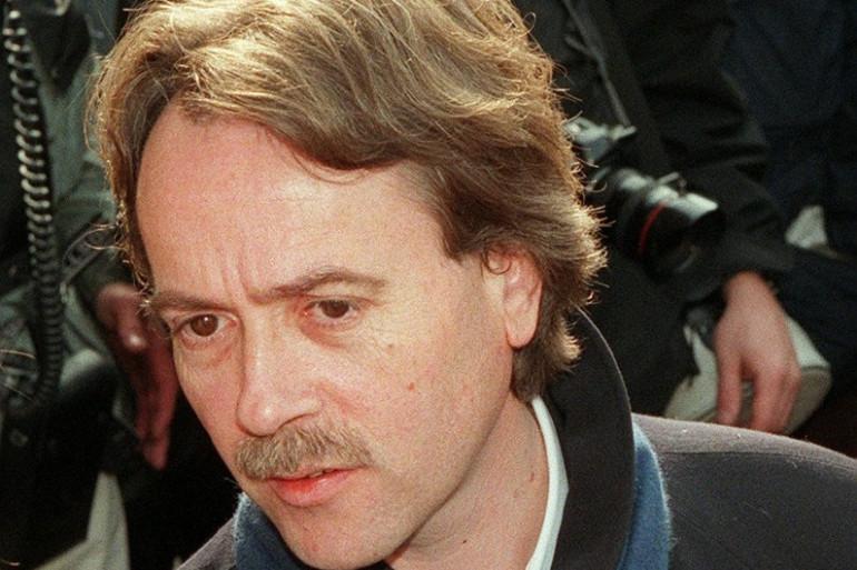 Yann Andréa aux obsèques de Marguerite Duras le 7 mars 1996.