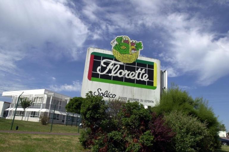 Les bâtiments de la société Florette à Lessay dans le Cotentin, le 25 juillet 2001 (archives)