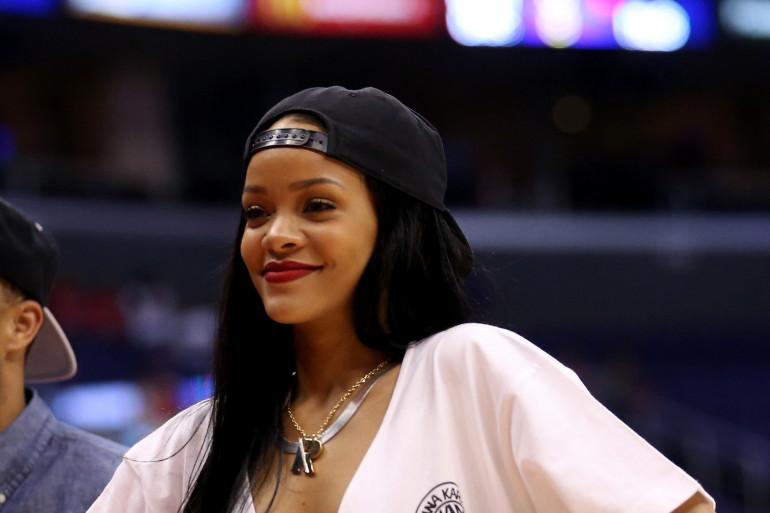 Rihanna lors des playoffs NBA 2014