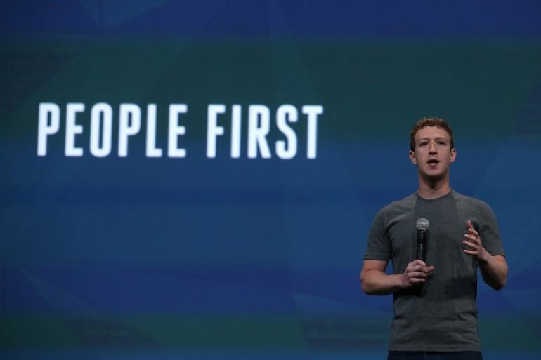 Le PDG de Facebook, Mark Zuckerberg, le 30 avril 2014 à San Francisco.