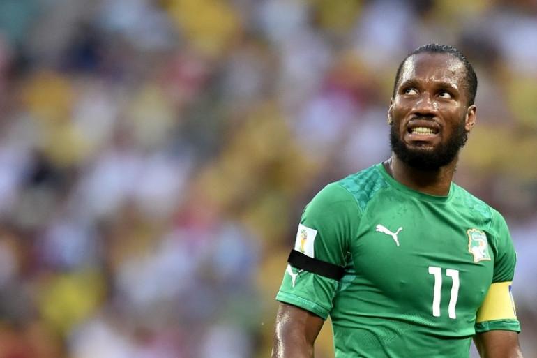 L'attaquant ivorien, Didier Drogba, pourrait revenir à Chelsea. Ici au Mondial au Brésil contre la Grèce, le 24 juin 2014.