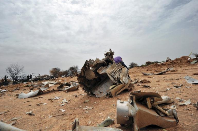 Le site du crash du vol d'Air Algérie au Mali, le 26 juillet 2014.