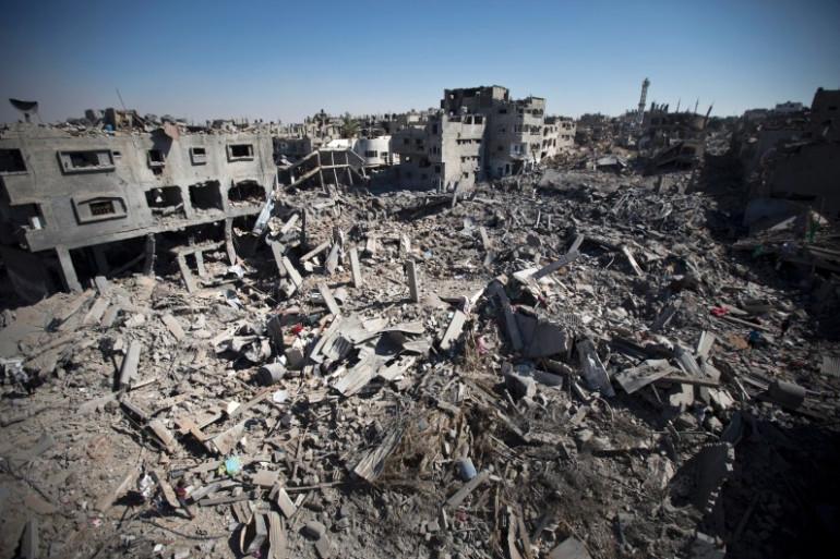 Des immeubles détruits à Gaza City, le 26 juillet 2014.