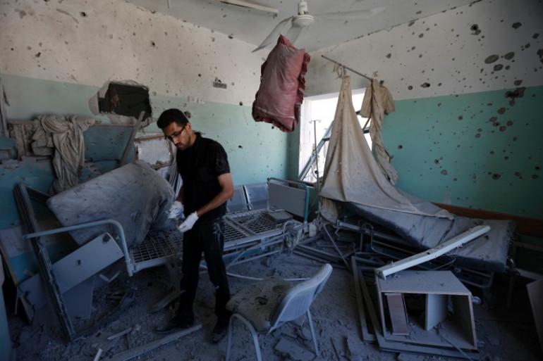 Une chambre d'hôpital dévastée à Deir al-Balah, dans la bande de Gaza, le 21 juillet 2014 (image d'illustration)
