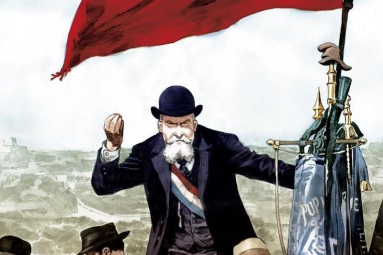 """Couverture de la BD """"Jaurès"""" dessinée par Rey Macutay"""
