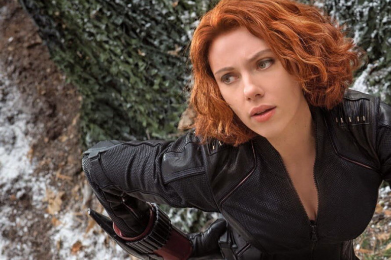 """Scarlett Johanson est Black Widow alias la veuve noire dans """"The Avengers"""". L'actrice était enceinte pendant le tournage"""