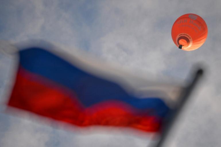 Le drapeau de la Russie, à Velikiye Luki (nord-ouest), le 7 juin. (archives)