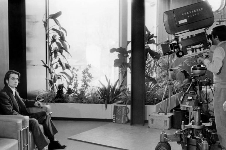 """Jean-Pierre Leaud et Francois Truffaut lors du tournage de """"Domicile Conjugal"""" (Mise en ondes par Grégory Caranoni)"""