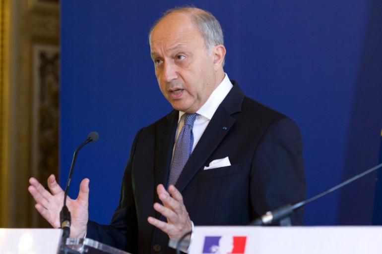 Le ministre des Affaires étrangères Laurent Fabius, le 28 juillet 2014 à Paris.