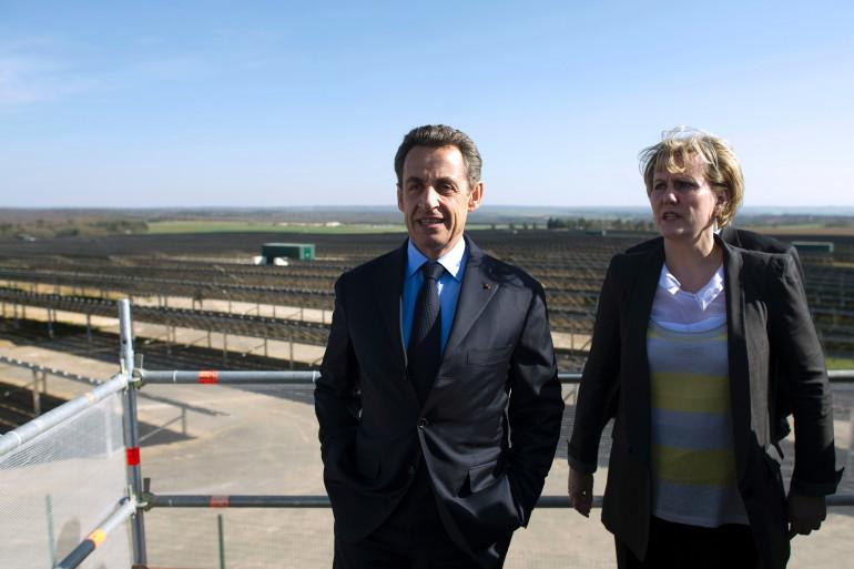 Nicolas Sarkozy et Nadine Morano en 2012 (Archives)