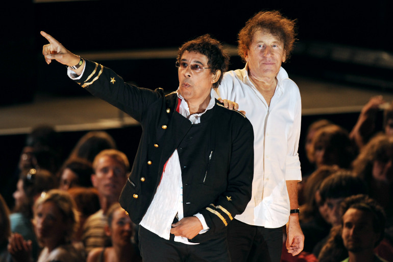 Laurent Voulzy et Alain Souchon au festival des Francofolies de la Rochelle en 2010