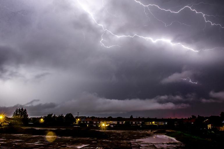 Des orages en France au mois de juillet 2014.
