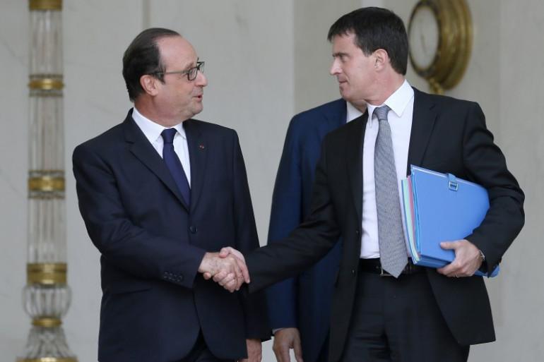 François Hollande et Manuel Valls, le 16 juillet 2014 à Paris.