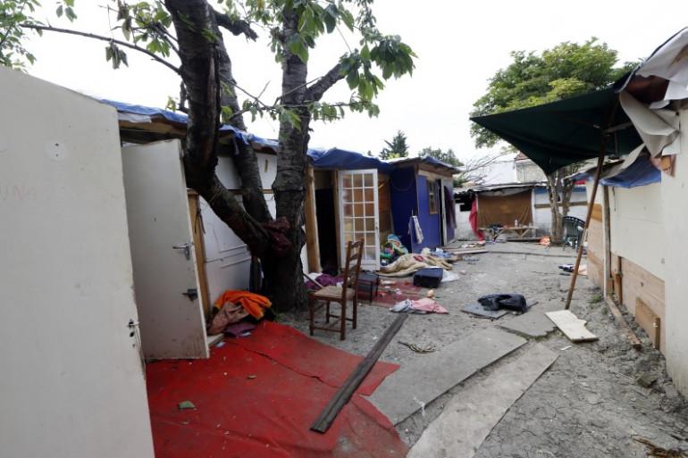 Le campement où vivait le jeune rom lynché à Pierrefitte-sur-Seine le 17 juin 2014