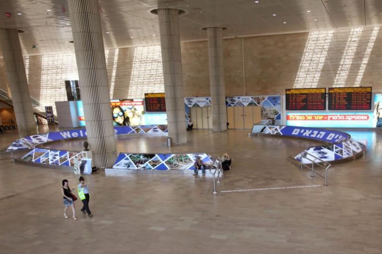 L'aéroport Ben Gourion à Tel Aviv