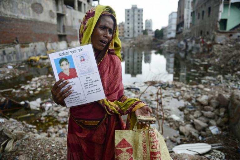 Les décombres du Rana Plaza après son effondrement le 24 avril 2013 au Bangladesh (archives).