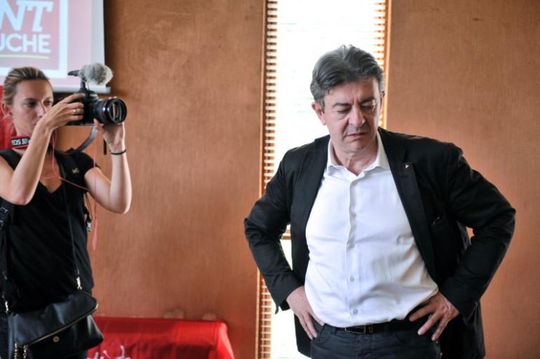 Jean-Luc Mélenchon à Saint-Martin-d'Hères, le 22 août 2014.