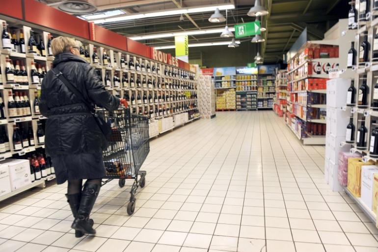 Dans les rayons d'un supermarché