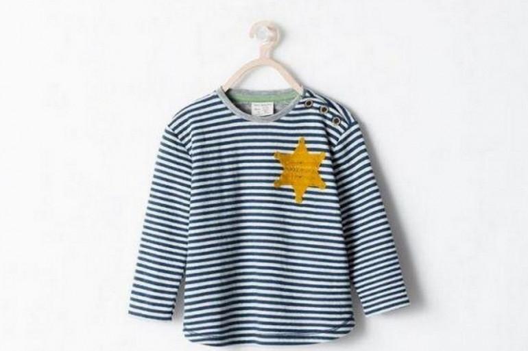 Zara a présenté dans son catalogue une marinière pour enfant affublée d'une énorme étoile jaune