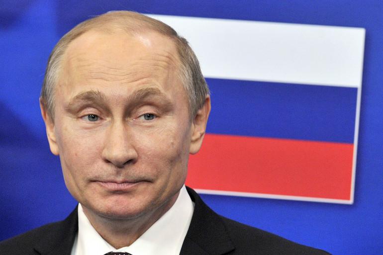Le président russe Vladimir Poutine lors d'un sommet avec l'Union européenne, le 28 janvier 2014 à Bruxelles