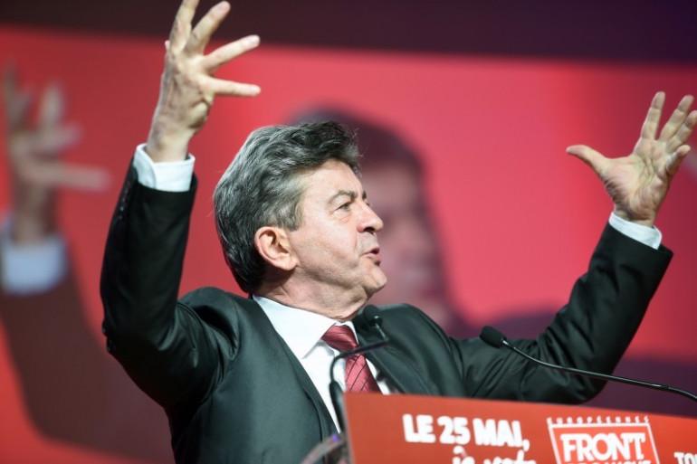 """Pour l'ancien co-président du Parti de gauche, Jean-Luc Mélenchon, les frondeurs doivent """"aller au bout de leur logique"""". Ici à Toulouse le 20 mai 2014."""