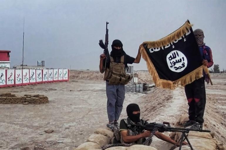 Irak : des djihadistes de l'Etat Islamique (illustration).