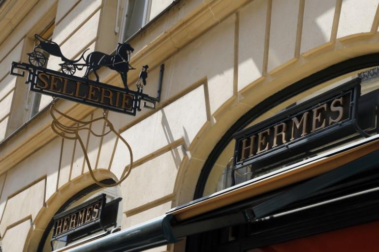 Une enseigne Hermès à Paris, le 30 août 2013 (archives)