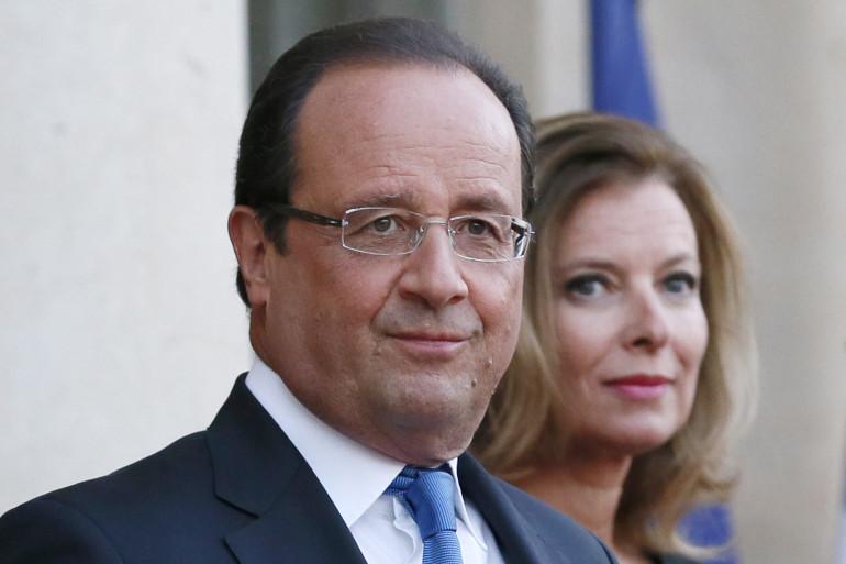 François Hollande et Valerie Trierweiler le 3 septembre 2013