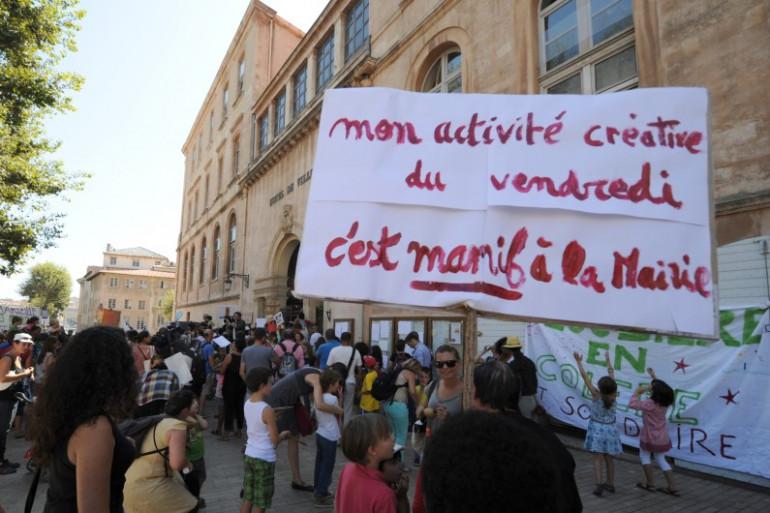 Manifestation contre la réforme des rythmes scolaires, à Marseille, le 5 septembre. (archives)