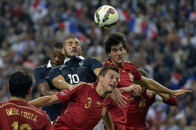 Karim Benzema avec les Bleus face à l'Espagne en septembre 2014