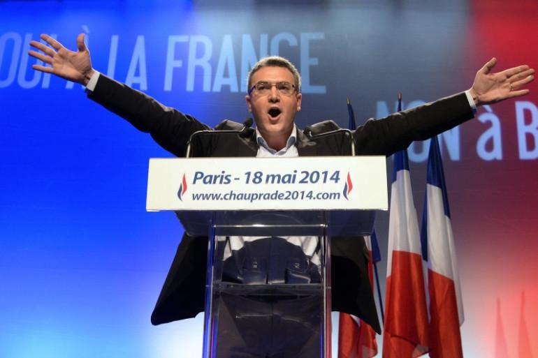 Aymeric Chauprade, le 18 mai 2014, à Paris. (archives)