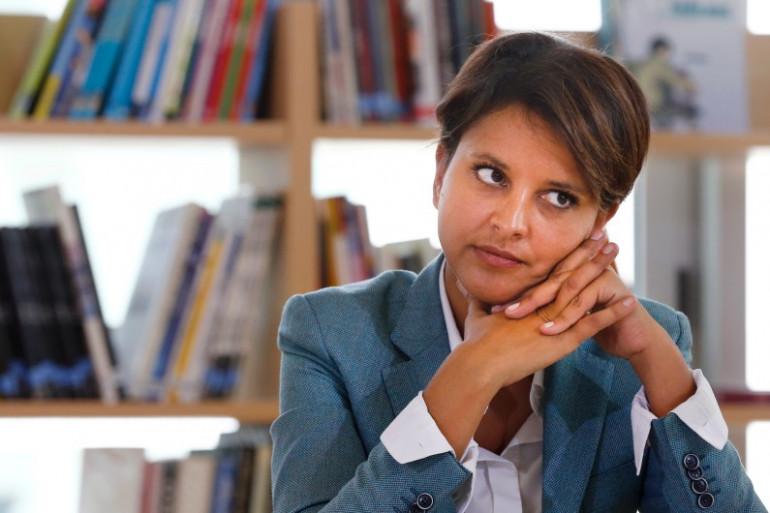 La ministre de l'Education nationale Najat Vallaud-Belkacem dans une école de Clichy-sous-Bois le 2 septembre 2014.