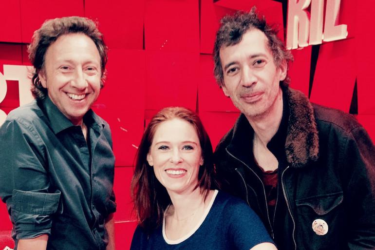 Audrey Fleurot, Eric Elmosnino et Stéphane Bern au studio d'A La Bonne Heure