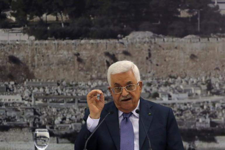 Mahmoud Abbas à Ramallah, le 11 septembre 2014.