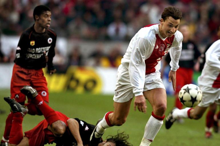 Zlatan Ibrahimovic sous les couleurs de l'Ajax Amsterdam en mars 2003