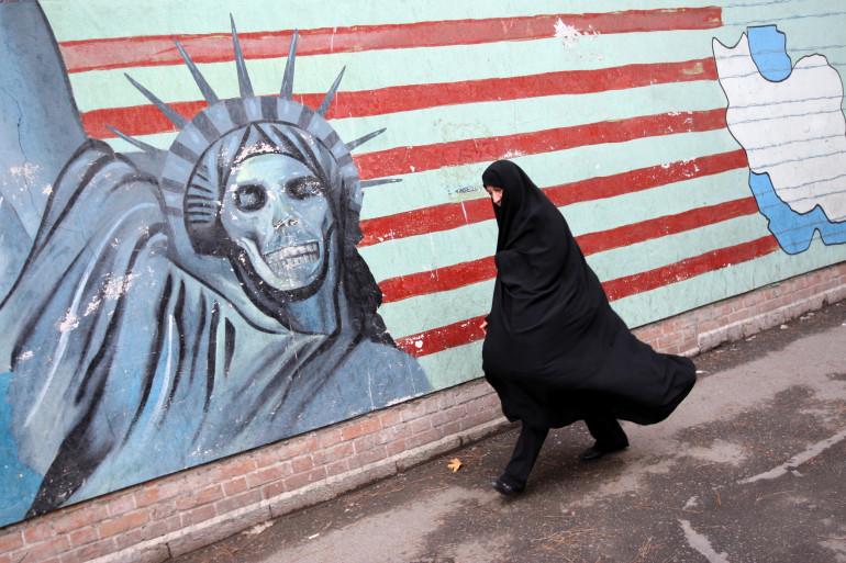 Une peinture anti-Etats-Unis sur un mur de Téhéran, en Iran, en novembre 2009 (archives).