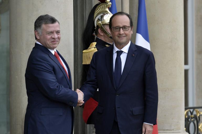 Le roi de Jordanie avec François Hollande le 17 septembre 2014 (illustration)