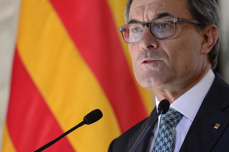 Le président de la Catalogne, Artur Mas, à Barcelone le 19 septembre 2014 (Archives).