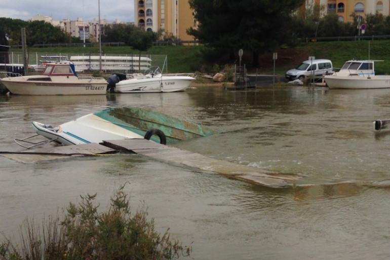 Un bateau coulé à Carnon dans l'Hérault