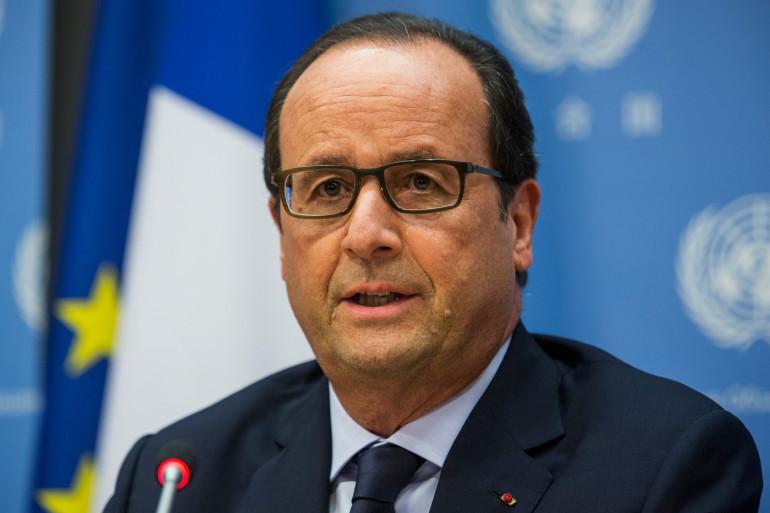 François Hollande lors de sa conférence de presse après le sommet de l'ONU le 24 septembre 2014 à New York.