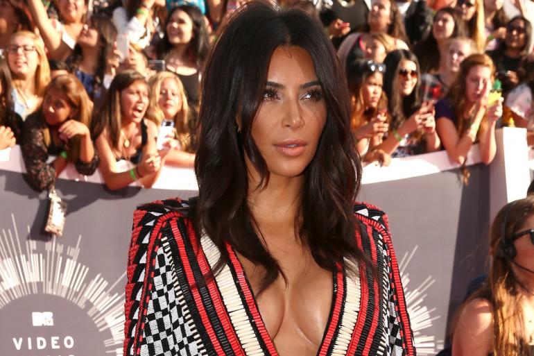 Kim Kardashian au MTV Video Awards, en août 2014