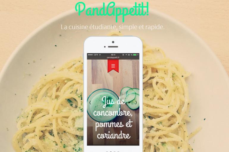 La page d'accueil du site PandAppetit!