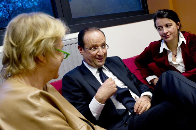François Hollande, Eva Joly et Cécile Duflot durant la campagne présidentielle de 2012