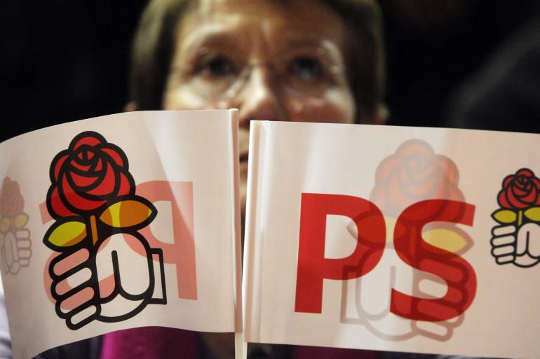 Des drapeaux du Parti socialiste (illustration)