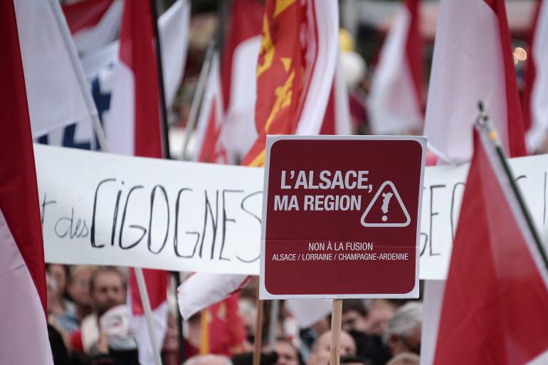 L'Alsace se mobilise contre sa fusion avec la Lorraine, comme le prévoit la réforme territoriale