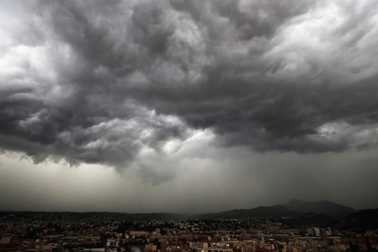 Un orage à Nice (Alpes-Maritimes) le 5 octobre 2014. (Illustration)
