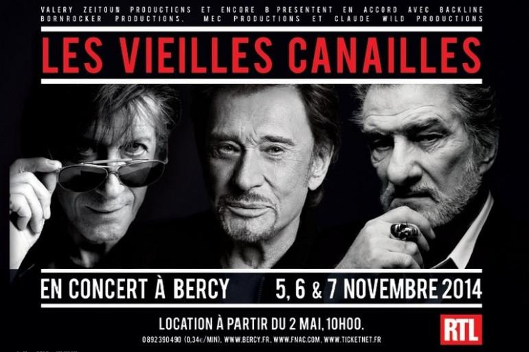 Les vieilles canailles en concert du 5 au 10 novembre à Bercy