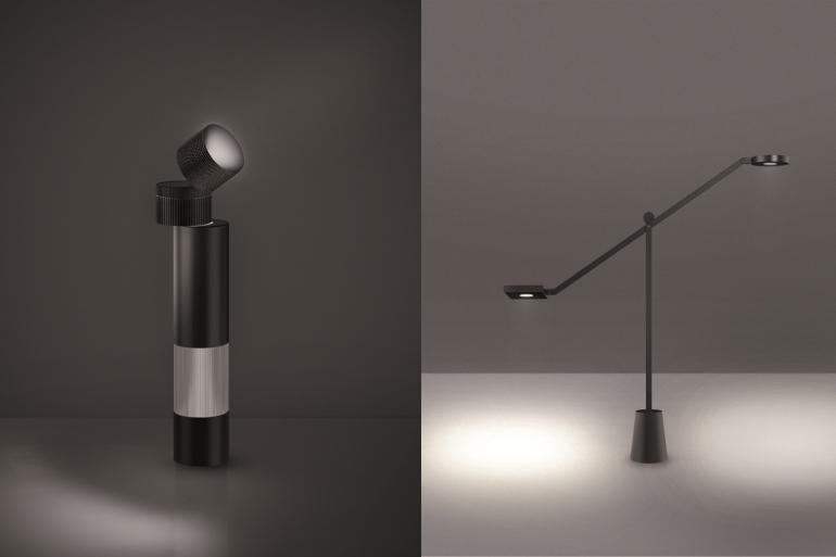 Lampes Equilibrist et Objective de Jean Nouvel